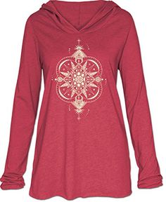 Soul Flower Womens Celestial Yoga Hoody XL Cranberry * Read more reviews of the product by visiting the link on the image.