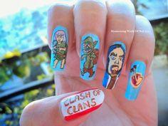 Mesmerizing World Of Nail Art..: Clash of Clans Nail Art