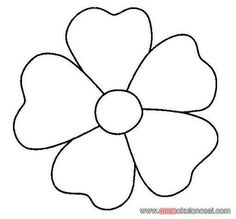 Print Coloring Page And Book Flower Simple Shapes Pages