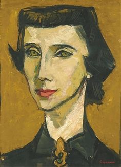 PORTRAIT OF A LADY By Oswaldo Guayasamín