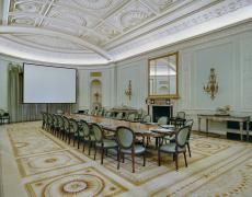 The Banco Santander boardroom in Santander, Spain, photographed by Jacqueline Hassink for her new book, The Table of Power 2 Meeting Table, Dark Places, Take A Seat, Rest Of The World, Soft Colors, Art Gallery, Architecture, Photography, Furniture
