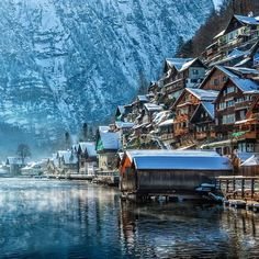 Winter scene in Hallstatt, Austria. Photo courtesy of globaltouring on Instagram.