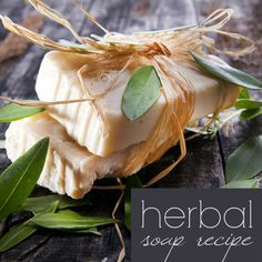 Herbal Provence soap: how to make cold process soap with herbs