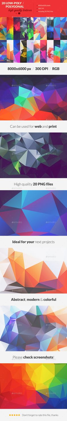 20 LowPoly Polygonal Background Textures #4  — PNG Image #web #background • Download ➝ https://graphicriver.net/item/20-lowpoly-polygonal-background-textures-4/18527709?ref=pxcr