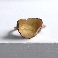 Citrine Ring Gemstone Ring November Cocktail by MidwestAlchemy, $72.50
