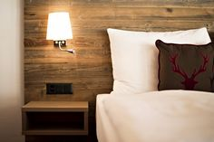 Pure Alpine Swissness Spa Hotel, Hotels, Winter Cabin, Restaurant, Floating Nightstand, Wall Lights, Interior, Table, Furniture