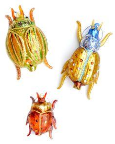 fancy bug ornaments (diy)