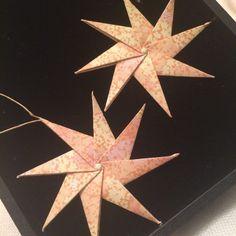 Set of 2 origami star ornaments