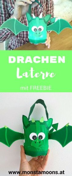 """Helmut"", the dragon lantern - DIY - Basteln mit Kindern - Kids Diy Crafts To Do, Crafts For Teens To Make, Diy For Teens, Diy For Kids, Christmas Crafts For Gifts, Craft Gifts, Christmas Fun, Martini, Lantern Craft"