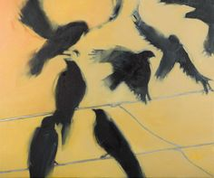 Early Morning Crows by Jane Blair