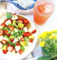 Juicy summer strawberries, ripe avocado, creamy fresh mozzarella, and fresh basil get drizzled in a balsamic reduction and piled high on toast. This simple salad is sweet, tangy, and so satisfying …