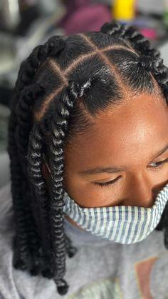 Natural Braided Hairstyles, Box Braids Hairstyles For Black Women, Baby Girl Hairstyles, Baddie Hairstyles, Flat Twist Hairstyles, Protective Hairstyles, Hair Twist Styles, Curly Hair Styles, Natural Hair Styles