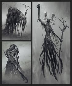 View an image titled 'Revenant Early Concept Art' in our God of War art gallery featuring official character designs, concept art, and promo pictures. Noctis, Fantasy World, Fantasy Art, Scary Art, Creepy, Apocalypse Art, The Revenant, Cool Sketches, God Of War