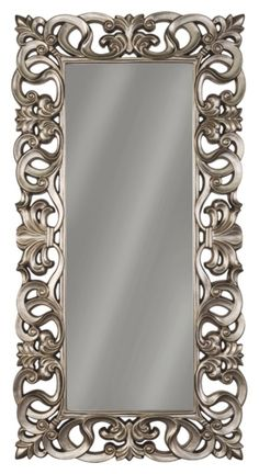 Lucia - Antique Silver Finish - Accent Mirror by Signature Design by Ashley. Get your Lucia - Antique Silver Finish - Accent Mirror at American Furniture, Brooklyn Park MN furniture store. Silver Floor Mirror, Baroque Mirror, White Mirror, Spiegel Design, Old Room, Beautiful Mirrors, Decoration, Antique Silver, Flooring