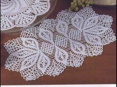flor para Camino de mesa en crochet (#1) - YouTube