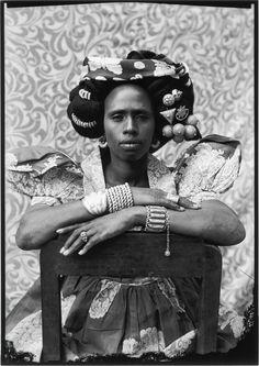 Untitled, #313 [Woman Seated on Chair]  Artist: Seydou Keïta (Malian, Bamako ca. 1921–2001 Paris) Date: 1956–57 Geography: Mali Medium: Gelatin silver print, 2001 Dimensions: Overall: 24 x 20 in. (61 x 50.8 cm) Image: 22 x 15 1/2 in. (55.9 x 39.4 cm) Classification: Photographs