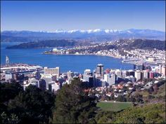 Favorite city in the world: Wellington, New Zealand. And my home town. Yes the sky is really that blue and gets more vibrant than that. A very cosmopolitan wee city. Wellington City, Wellington New Zealand, New Zealand Snow, Wonderful Places, Beautiful Places, New Zealand Cities, Sky Home, Study Abroad, Places Around The World