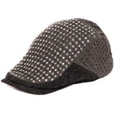b7fb7e167ca Women Men Gray Grey Studded Knit Cotton Steam Punk Rock Kangol Caps Hats  SKU-71108146