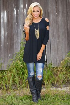 Make Our Own Fun Tunic - Black from Closet Candy Boutique Boutique Tops, Boutique Clothing, Candy Boutique, Fall Outfits, Casual Outfits, Black Tunic, So Little Time, Amazing Women, Autumn Winter Fashion