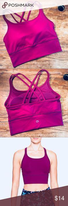 GAP Medium Impact Strappy Sports Bra NWT. GAP Factory, GAP FIT. hot color—exotic fuchsia (purple/deep fuchsia). offers always welcome! xx GAP Intimates & Sleepwear Bras