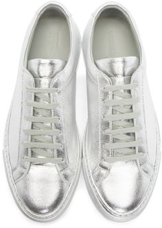 Woman by Common Projects - Silver Edition Original Achilles Sneakers