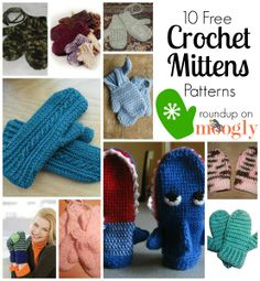 Warm Hands For Winter: 10 Free Crochet Mittens Patterns