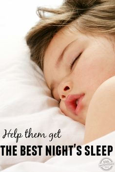 sleep tips for kids!