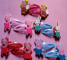 Aliexpress.com : Buy 50pcs/lot Baby girls clip hairpins Children Hair clips Peppa pig silicone Headwear george pig children hair accessories fashion  on Love on Top. $30.47
