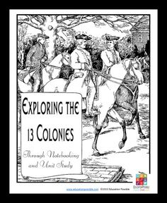 Discover the 13 Colonies Notebooking and Activity Unit - Exploring the 13 Colo. - Discover the 13 Colonies Notebooking and Activity Unit – Exploring the 13 Colonies Through Note - 4th Grade Social Studies, Social Studies Activities, History Activities, Teaching Social Studies, Teaching History, History Education, History Class, Women's History, British History