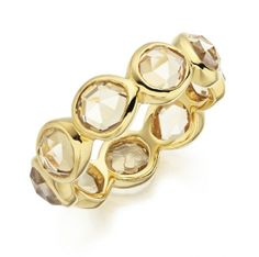 Citrine eternity ring - November