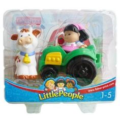 Little People. Girl with tractor and cow. $9.99 on Amazon.