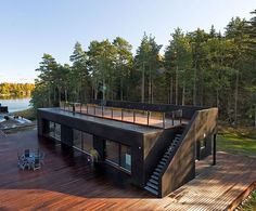 Container home with upper deck: Containerhom, Kubikcontainers Com Au, Upper Decks, Roof Decks, Container Homes, Tiny House, Prefab, Nice Design, Ideas Inspiration