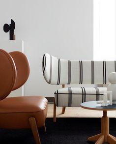 Sofa Furniture, Furniture Design, Danish Furniture, Leather Furniture, Unique Sofas, Lounge Chair Design, Lounge Chairs, Das Hotel, Contemporary Furniture