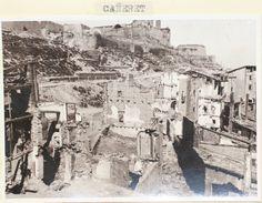 """Antic barri """"El Canyeret"""" de Lleida en runes a causa dels bombardejos.  AHL"""