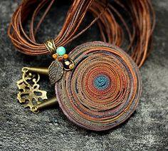 IMG_9634 | Tanya Mayorova | Flickr Polymer Clay Necklace, Polymer Clay Pendant, Washer Necklace, Gold Necklace, Statement Jewelry, Pendants, Jewels, Beads, Personal Photo