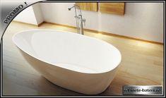 Cada de baie Goya 160 x 70 cm, din compozit marmura | Bathtub, Bathroom, Freestanding Tub, Homes, Standing Bath, Washroom, Bathtubs, Bath Tube, Full Bath