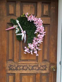 Items similar to Unicorn Wreath/Unicorn on Etsy Horse Head Wreath, Pink Dogwood, Unicorn Head, Dressage Horses, White Ribbon, So Little Time, Floral Wreath, Christmas Decorations, Wreaths