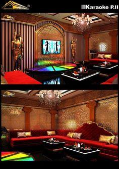 Thiết kế phòng karaoke phong cách Hoàng Gia