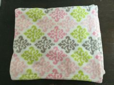 Blankets & Beyond Damask Baby Blanket Pink Green Gray Plush Baby Security Blanket, Lovey Blanket, Plush Baby Blankets, Baby Girl Blankets, Swaddle Wrap, Baby Swaddle, Baby Lovey, Baby Baby, Blankets And Beyond