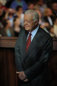 Former President Jimmy Carter is seen at the Democratic National Convention 2008 at the Pepsi Center in Denver, Colorado, on August The Democrats formally opened their convention to crown. Get premium, high resolution news photos at Getty Images Greatest Presidents, American Presidents, Pepsi Center, Usa President, History Pics, Democratic National Convention, Jimmy Carter, Political Leaders, August 25