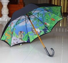 studio ghibli umbrella. I WANT! Even more than the one with a Monet blue sky on the underneath!
