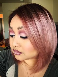 how to get rose gold hair color - Google Search