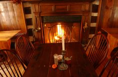 Hunter's Head Tavern fireplace, coziest spot in the restaurant.