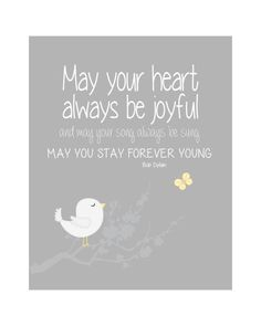 Stay Forever Young - Baby Girl Nursery Kids Wall Art Nursery Art Baby Room by vtdesigns, $14.00