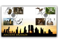 -Celebrating Ancient Britain -Full set of 8 Ancient Britian stamps -Special Callanish, Isle of Lewis postmark (17th January, 2017)