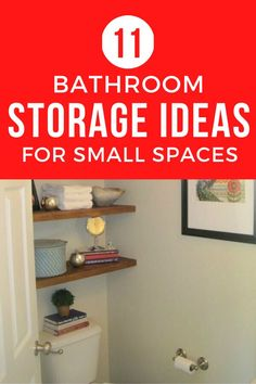 Do you have a small bathroom? Check out these storage hacks for organizing your tiny bathroom on a budget. These easy DIY storage solutions are easy and simple to do. #diy #storagehacks #smallbathroom Storage Hacks, Diy Storage, Bathroom Storage, Storage Solutions, Small Bathroom, Storage Ideas, Organization Ideas, Laundry Room Organization, Small Shelves