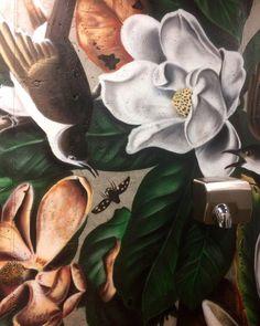 Blue Magnolia Flower Design Personalization Custom Therapist Bag