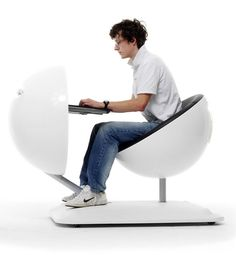 Computer Workstation on Wheels: Globus by Artifort   Captivatist  Ugly