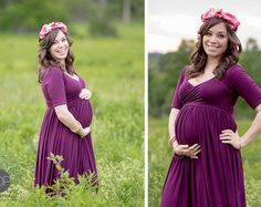 Lexcie Gown  Long Flowing Sheer Maternity by SewTrendyAccessories
