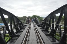 The legendary and famous ... The Bridge on the River Kwai in  Kanchanaburi  was part of World War II's Death Railway  built by  thousands of  Prisoners of War.  www.asianmetroph.com